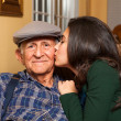 Grandfather and Granddaughter — Stock Photo #38258417