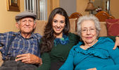 Grandparents and Granddaughter — Stock Photo