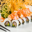 Crab and Salmon Roll — Stock Photo