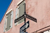 Bourbon street sign — Foto Stock