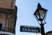 Orleans street sign — Stock Photo