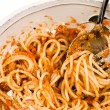 Stock Photo: Bowl of spaghetti