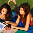 Stock Photo: Beautiful college girls