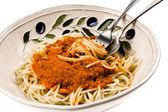 Plato de espaguetis — Foto de Stock