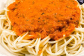 Bowl of spaghetti — Stock Photo