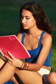 Beautiful college girl — Stock Photo