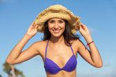 Beautiful young woman — Foto Stock