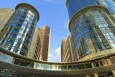 Futuristic Downtown Buildings — Stock Photo