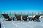 Rooftop lounging — Foto de Stock