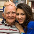 Grandfather and Granddaughter — Stock Photo #43709463