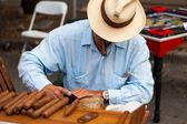 Cigar maker — Stock Photo