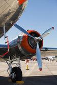 Vintage airplane engine — Stock Photo