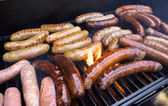 Grilling Sausage — Stock Photo