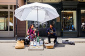 Street performers — Stock Photo