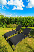 Sillas de jardín — Foto de Stock