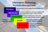 Information Technology Portfolio Management Diagram — Stock Photo