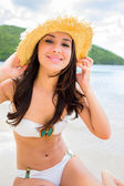 Beautiful girl at the beach — Stock Photo