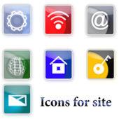 Iconos de sitio — Vector de stock
