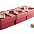 Ring and Boxes — Stock Photo