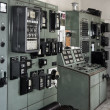 Thermal power plant control room from the 1960s — Stock Photo