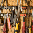 Stock Photo: Old Garage Tools