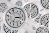 Flying Clocks — Stock Photo