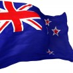 New Zealand Canvas Flag — Stock Photo #46420207
