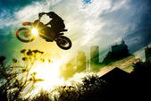Urban bike dirt jump — Foto Stock