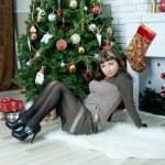 Beautiful girl celebrates Christmas — Stock Photo #38708547