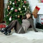 Beautiful girl celebrates Christmas — Stock Photo #38708701