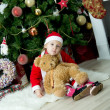 Child celebrates Christmas — Stock fotografie