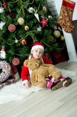 Child celebrates Christmas — Stock Photo