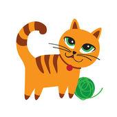 Kotek z piłką — Wektor stockowy