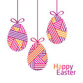 Happy Easter. Vector illustration. — Stock Vector