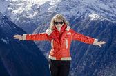 Mountain girl — Stock Photo