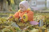 Autumn child — Stock Photo