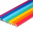 Rainbow from pencils — Stock Photo