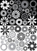 Greyscale Gears — Stock Vector