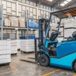 Forklift in the large modern warehouse — Stock Photo #48656871