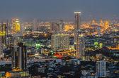 Panorama view of Bangkok city scape at night time — Stockfoto