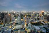 Modern Commercial City (Bangkok) in night — Stock Photo