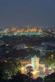 Grand palace at twilight in Bangkok, Thailand, HDR images — Stock Photo