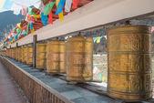 Buddhist prayer wheels — Stock Photo