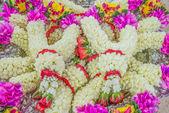 Many Jasmine Wreath on Tray — Stock Photo