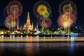 Wat arun under new year celebration time, Thailand — Stock Photo
