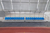 Reserve and staff bench in sport stadium — Stock Photo