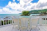White chair near the beach — Stock Photo