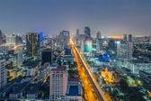 Bangkok view in night time — Stock Photo