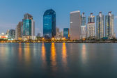 Commercial building in Bangkok twilight — Stock Photo