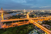 The Bhumibol Bridge also known as the Industrial Ring Road Bridg — Stock Photo